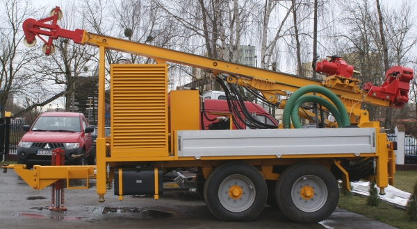 H30P Drilling rig on a trailer