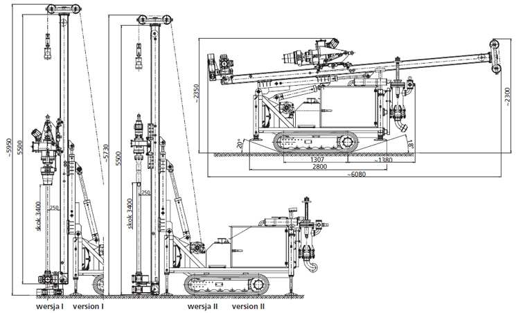 Piling machines, pile drivers and horizontal rigs, vertical